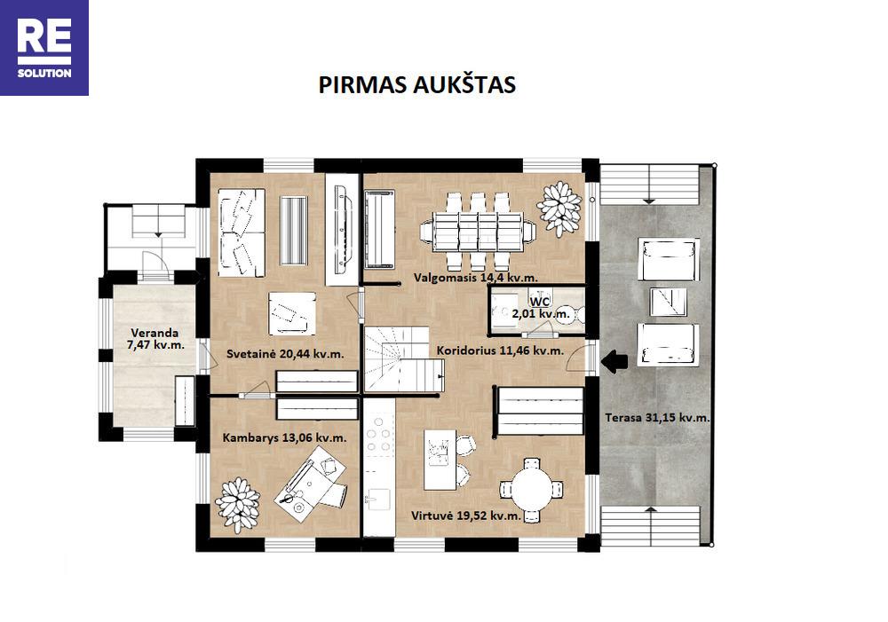 Namas Kremplių g., Balsiai, Vilniaus m., Vilniaus m. sav., 230 m2 ploto, 2 aukštai nuotrauka nr. 7