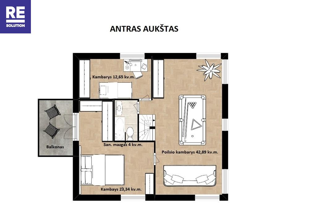 Namas Kremplių g., Balsiai, Vilniaus m., Vilniaus m. sav., 230 m2 ploto, 2 aukštai nuotrauka nr. 14