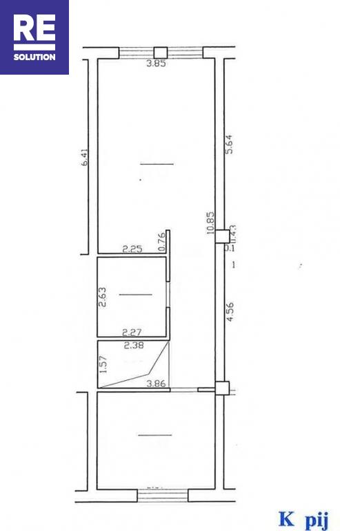 Gedimino pr., Senamiestis, Vilniaus m., Vilniaus m. sav., 60 m2 ploto, 2 kambariai nuotrauka nr. 22