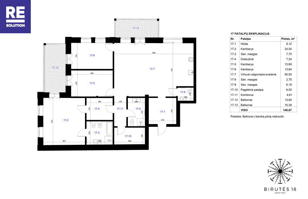 Parduodamas butas Birutės g., Žvėrynas, Vilniaus m., Vilniaus m. sav., 146.67 m2 ploto, 4 kambariai nuotrauka nr. 3