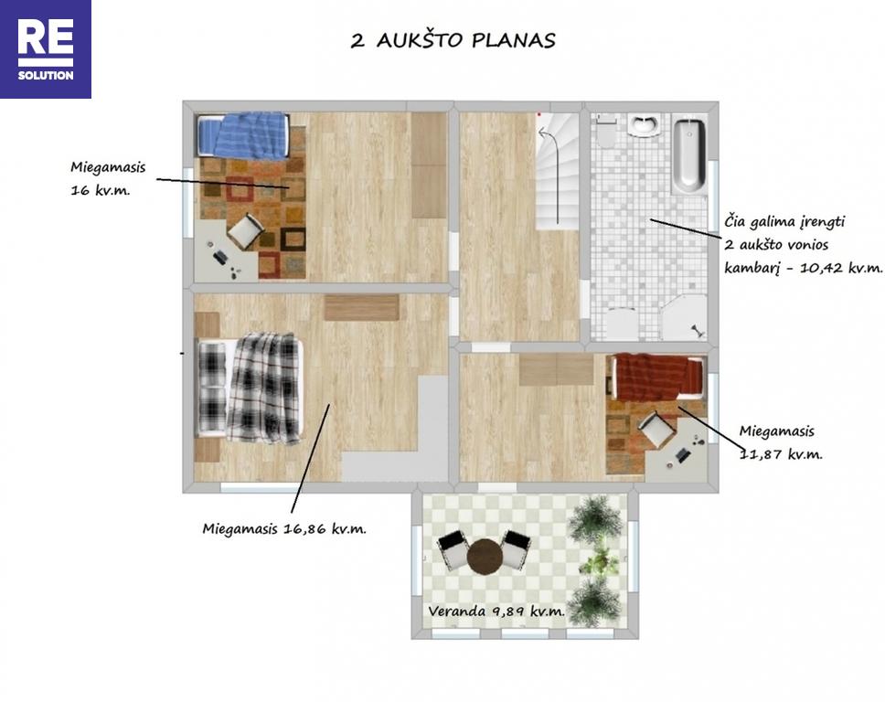 Parduodamas namas Miško g., Jašiūnų mstl., Šalčininkų r. sav., 204 m2 ploto, 2 aukštai nuotrauka nr. 21