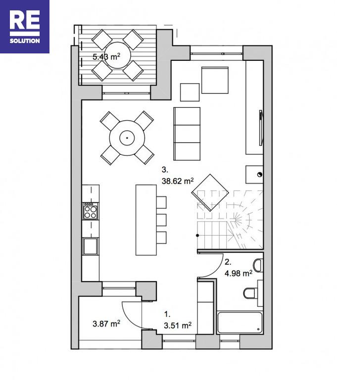 Parduodamas namas Salotės g., Pilaitė, Vilniaus m., Vilniaus m. sav., 101 m2 ploto, 2 aukštai nuotrauka nr. 13