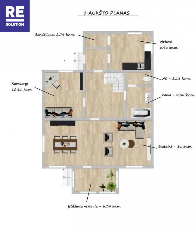 Parduodamas namas Ipolito Jundzilo g., Pabarės k., Šalčininkų r. sav., 113.68 m2 ploto, 2 aukštai nuotrauka nr. 13
