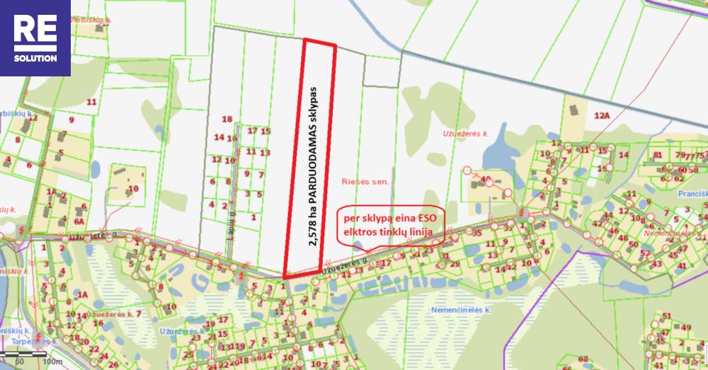 Parduodamas žemės ūkio paskirties sklypas Užuežerės k., Vilniaus r. sav., 258 a ploto nuotrauka nr. 6