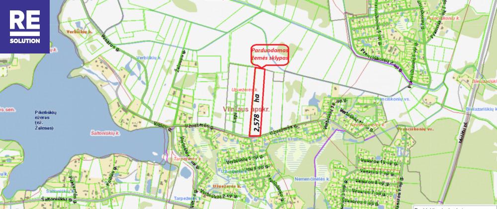 Parduodamas žemės ūkio paskirties sklypas Užuežerės k., Vilniaus r. sav., 258 a ploto nuotrauka nr. 7