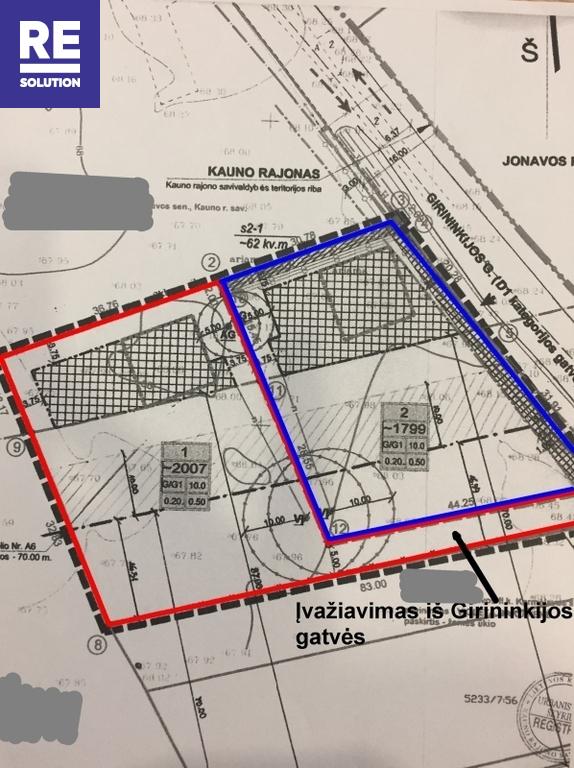 Parduodamas komercinės paskirties sklypas Karmėlavos II k., Kauno r. sav., 38 a ploto