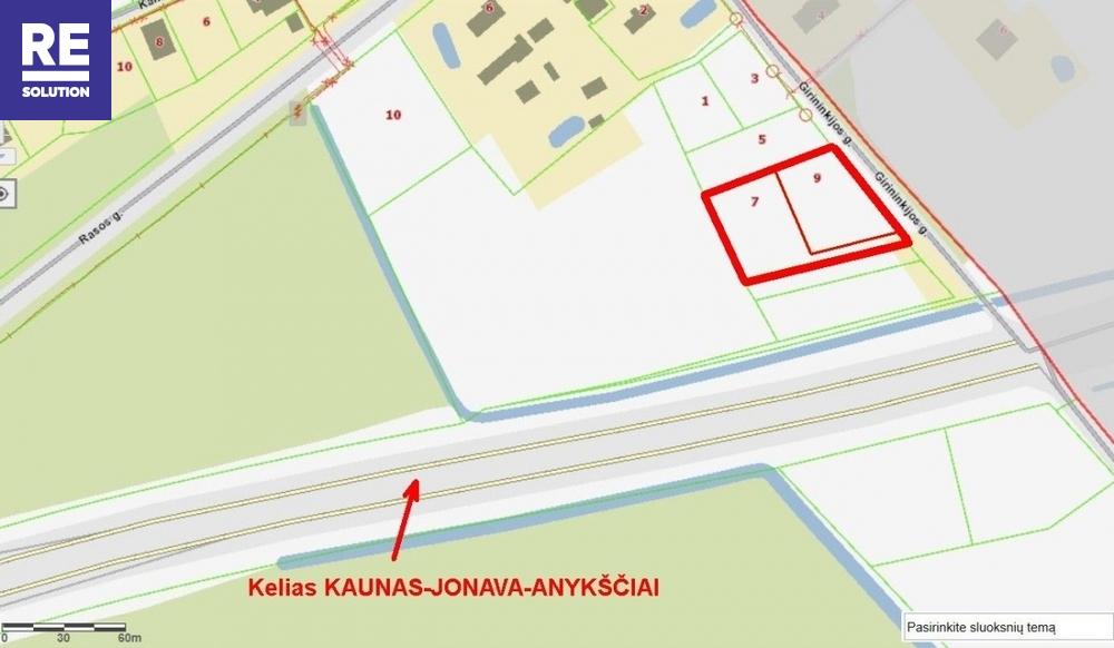 Parduodamas komercinės paskirties sklypas Karmėlavos II k., Kauno r. sav., 38 a ploto nuotrauka nr. 1