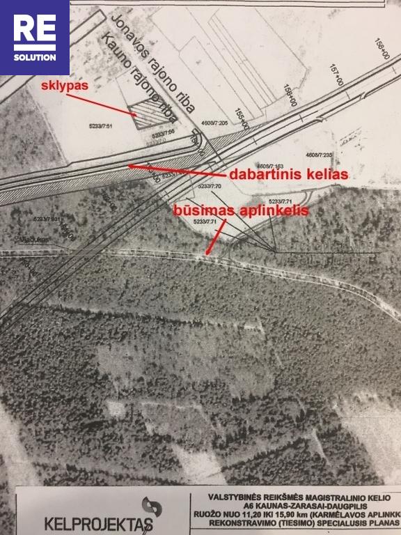 Parduodamas namų valdos paskirties sklypas Karmėlavos II k., Kauno r. sav., 18 a ploto nuotrauka nr. 6