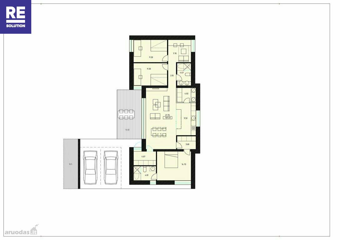 Parduodamas namas Šumsko g., Naujininkai, Vilniaus m., Vilniaus m. sav., 118 m2 ploto, 1 aukštai nuotrauka nr. 15