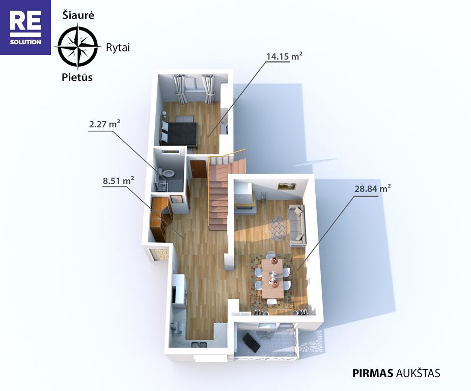 Parduodamas butas Medžiotojų g., Antakalnyje, Vilniuje, 127.36 kv.m ploto, 5 kambariai nuotrauka nr. 10