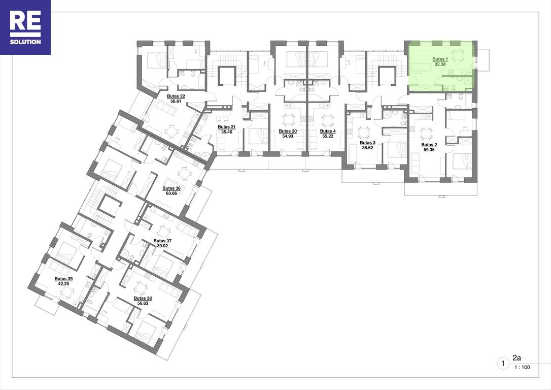 Parduodamas butas Kapsų g., Naujamiestyje, Vilniuje, 32.38 kv.m ploto, 1 kambariai nuotrauka nr. 13