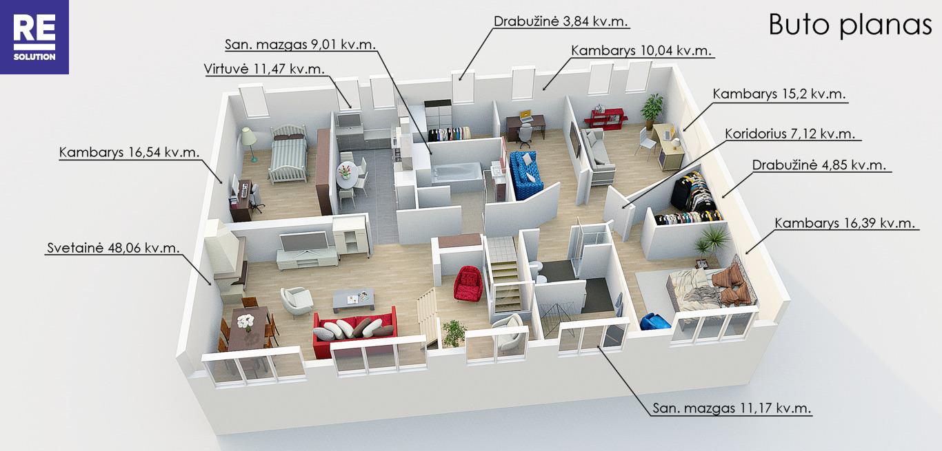 Parduodamas 5 kambarių butas A. Vienuolio g., Senamiestyje, Vilniuje! nuotrauka nr. 24