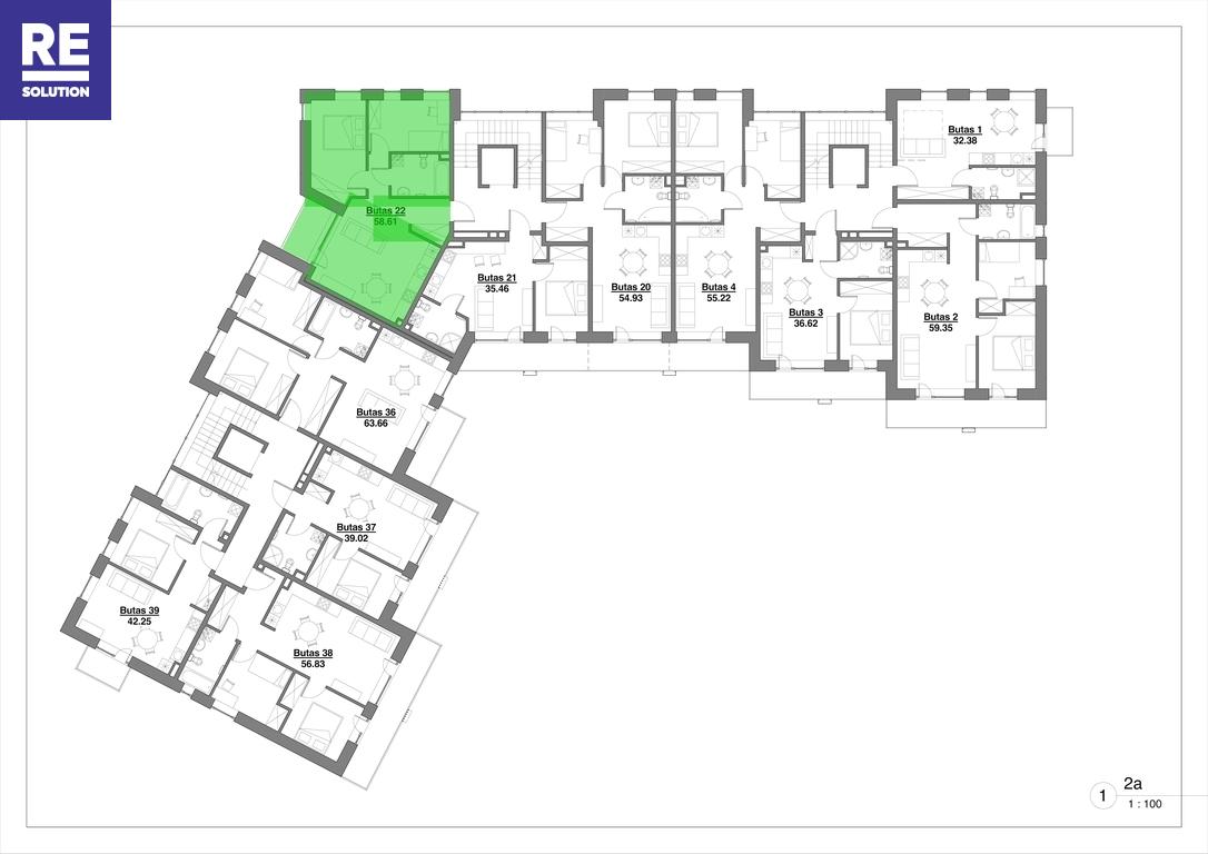 Parduodamas butas Kapsų g., Naujininkuose, Vilniuje, 58.61 kv.m ploto, 3 kambariai nuotrauka nr. 13