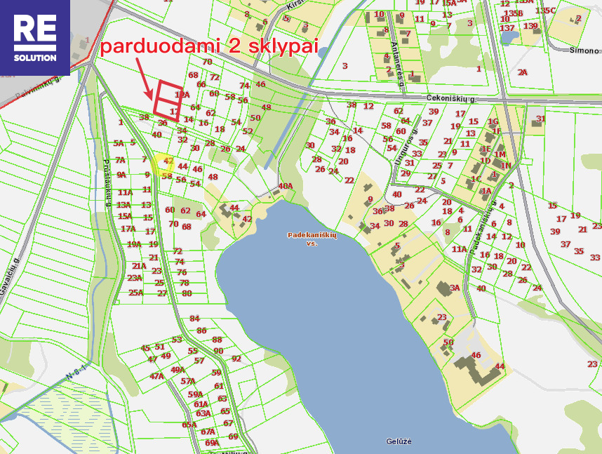 Parduodamas namų valdos paskirties sklypas Vilniaus apskritis, Vilniaus m. sav., Padekaniškės, 15 a ploto nuotrauka nr. 12