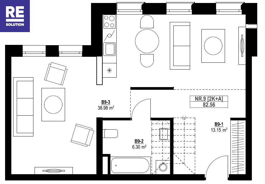 Parduodamas butas Vytauto g., Žvėryne, Vilniuje, 83.64 kv.m ploto, 3 kambariai nuotrauka nr. 4
