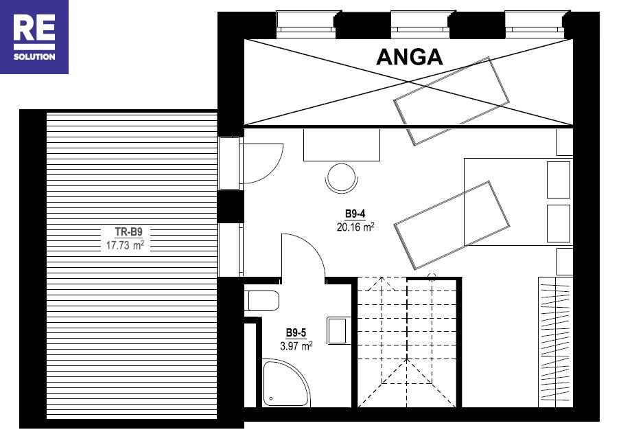 Parduodamas butas Vytauto g., Žvėryne, Vilniuje, 83.64 kv.m ploto, 3 kambariai nuotrauka nr. 5