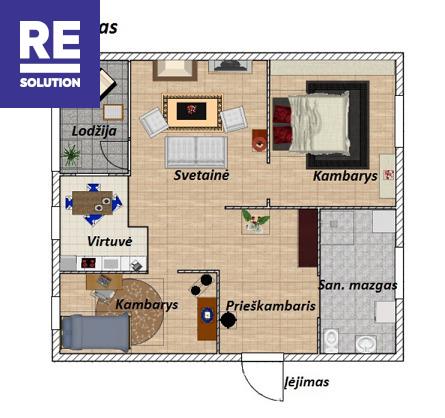 Nuomojamas jaukus 3 kambarių butas šalia Neries upės. nuotrauka nr. 21