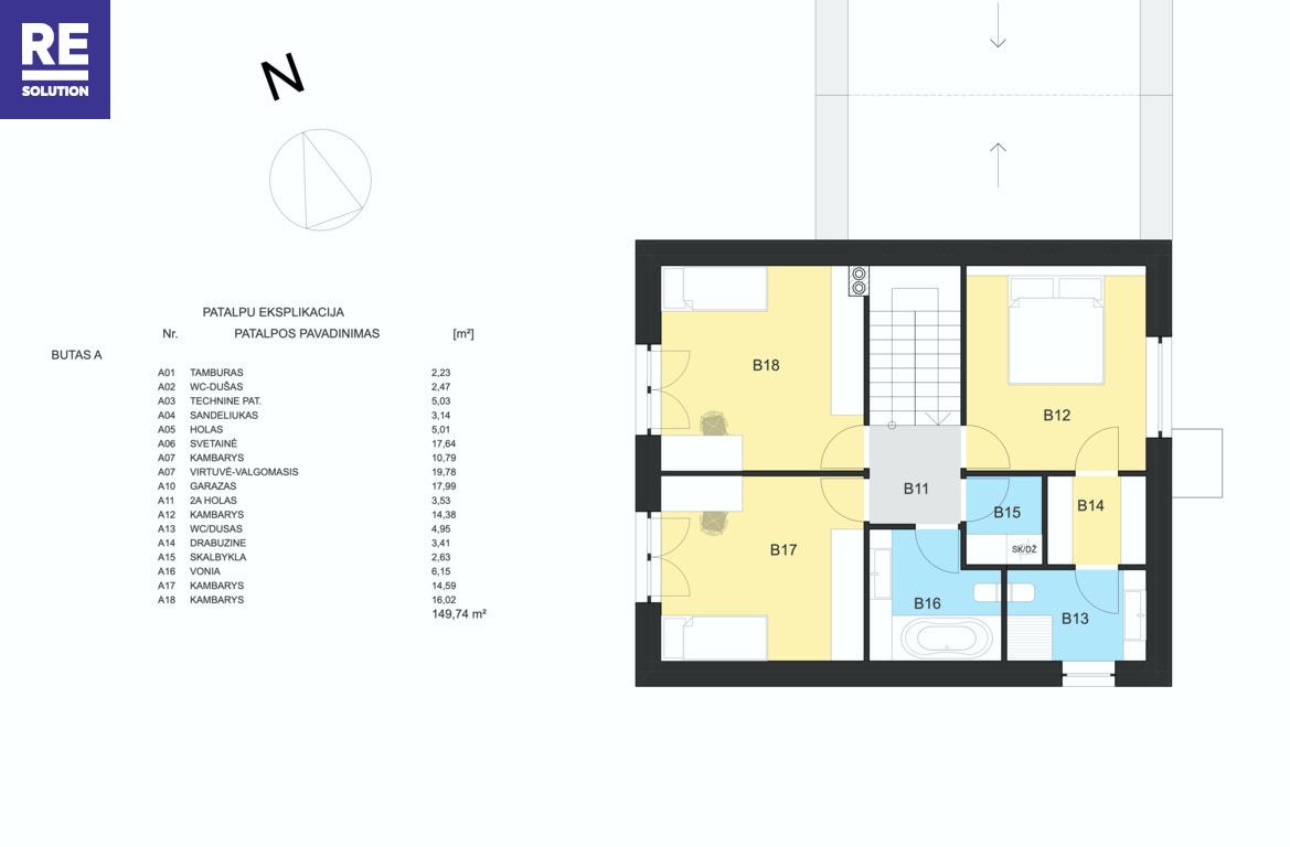 Parduodamas namas Lukšinės g., Kalnėnuose, Vilniuje, 150 kv.m ploto, 2 aukštai nuotrauka nr. 11