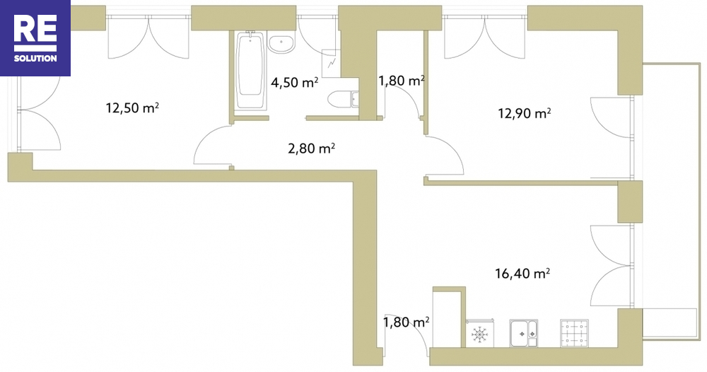 Parduodamas 3 kambarių butas Užupyje nuotrauka nr. 11