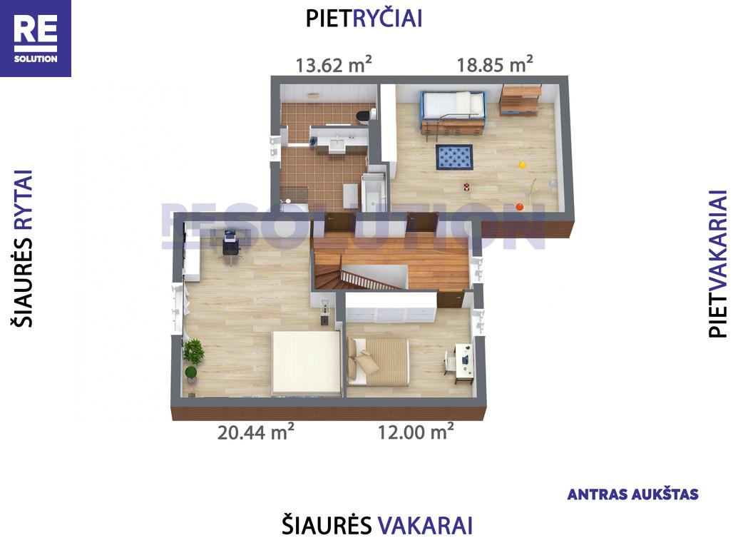 Parduodamas namas Gulbių g., Žvėryne, Vilniuje, 193.26 kv.m ploto, 2 aukštai nuotrauka nr. 11