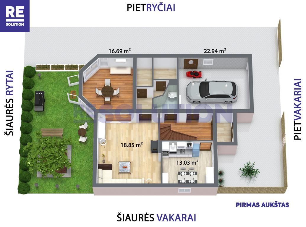 Parduodamas namas Gulbių g., Žvėryne, Vilniuje, 193.26 kv.m ploto, 2 aukštai nuotrauka nr. 8