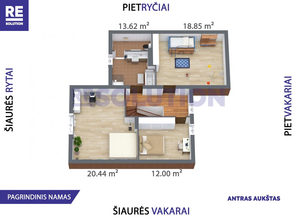 Parduodamas namas Gulbių g., Žvėryne, Vilniuje, 262.6 kv.m ploto, 2 aukštai nuotrauka nr. 11