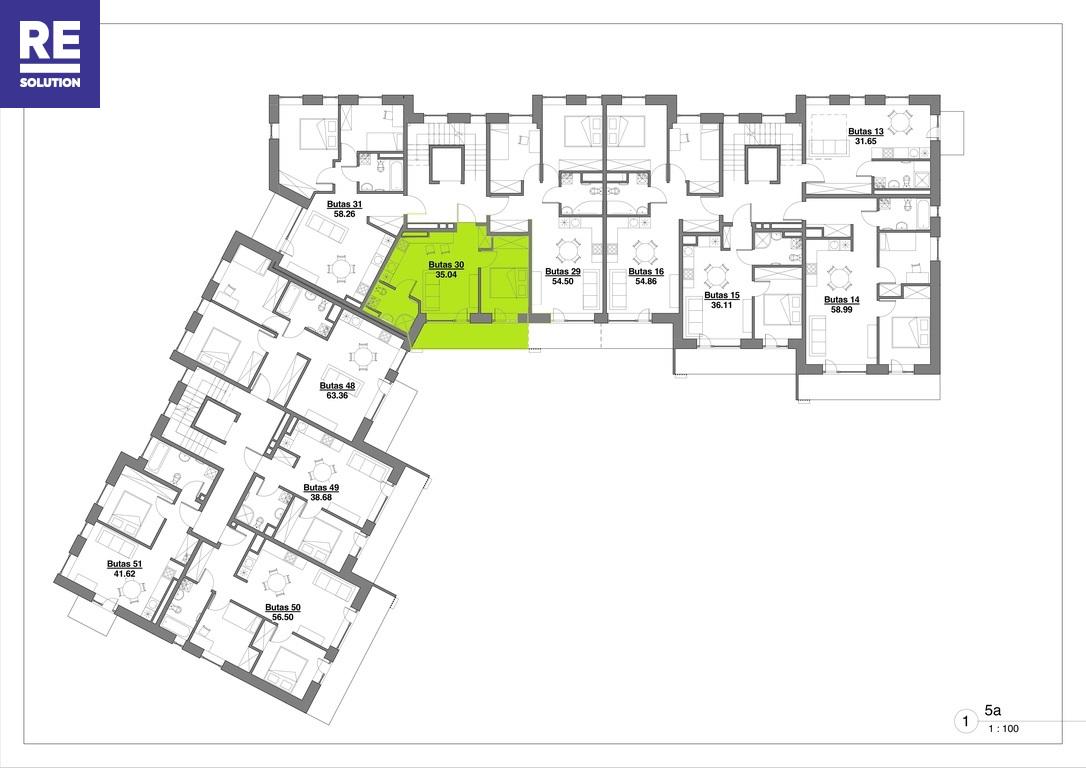 Parduodamas butas Kapsų g., 2 kambariai nuotrauka nr. 12
