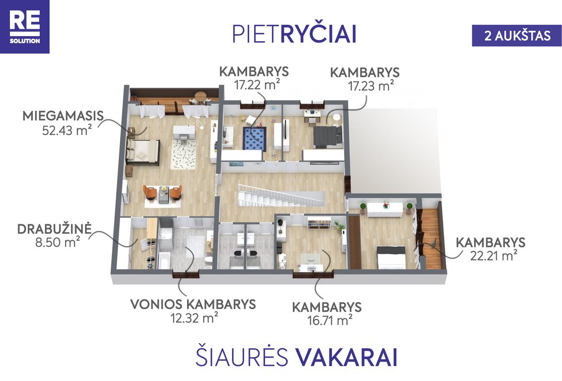 Parduodamas namas Nemenčinės pl., Valakampiai, Vilniaus m., Vilniaus m. sav., 396 m2 ploto, 2 aukštai nuotrauka nr. 19