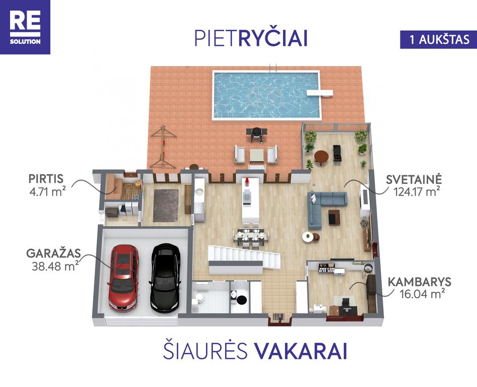 Parduodamas namas Nemenčinės pl., Valakampiai, Vilniaus m., Vilniaus m. sav., 396 m2 ploto, 2 aukštai nuotrauka nr. 13