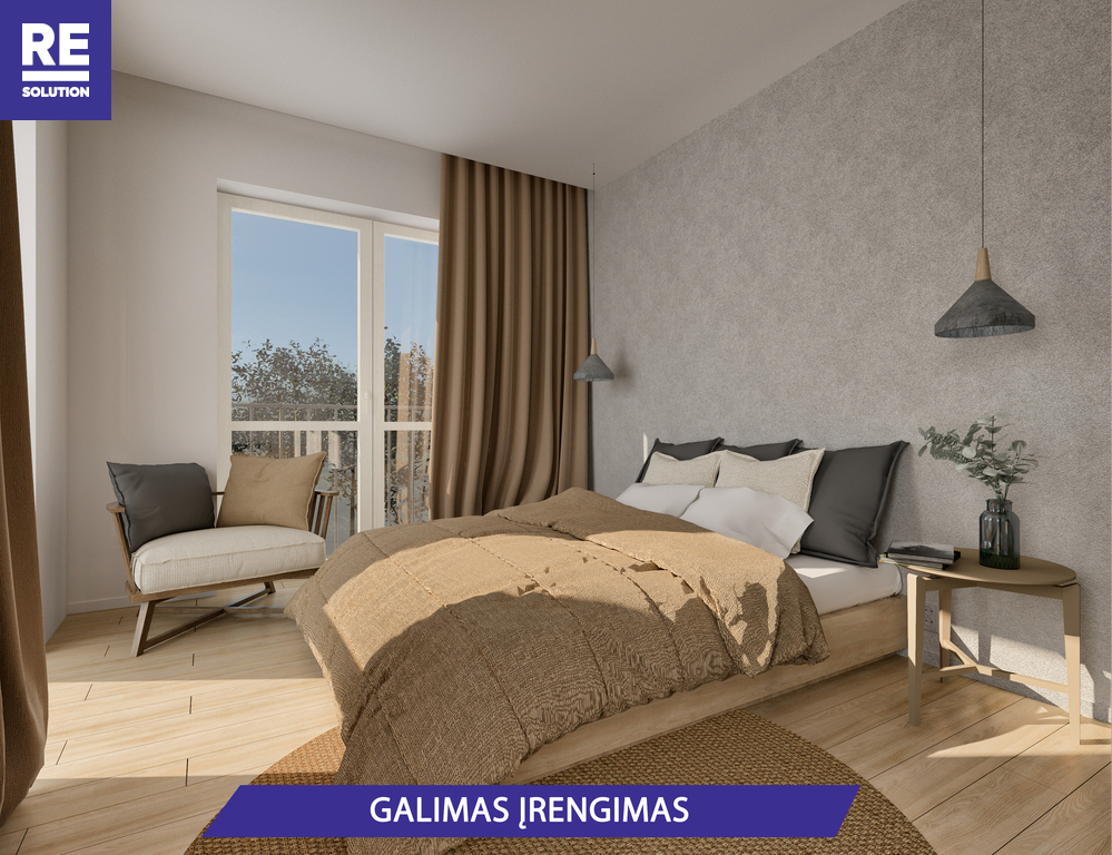 Parduodamas butas Olandų g., Užupis, Vilniaus m., Vilniaus m. sav., 33.3 m2 ploto, 2 kambariai