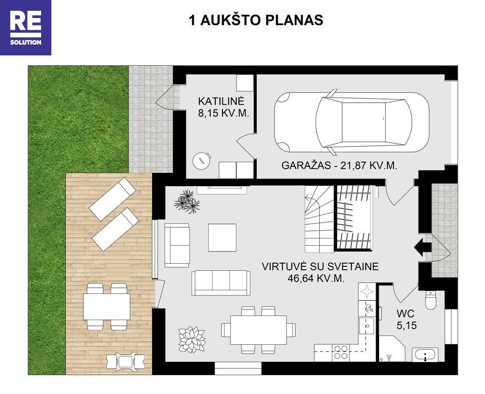 Parduodamas namas Juodasis kel., Pavilnyje, Vilniuje, 131 kv.m ploto, 2 aukštai nuotrauka nr. 20