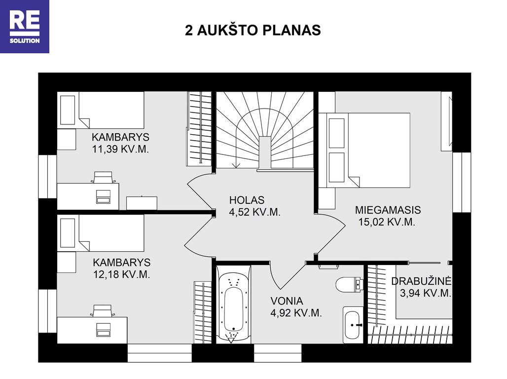 Parduodamas namas Juodasis kel., Pavilnyje, Vilniuje, 131 kv.m ploto, 2 aukštai nuotrauka nr. 21