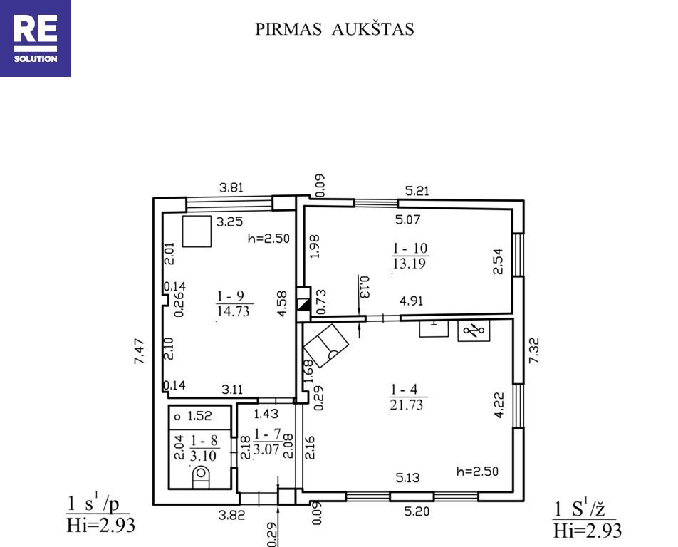 Parduodamas namas Vismaliukų g., Antakalnyje, Vilniuje, 96.24 kv.m ploto nuotrauka nr. 11