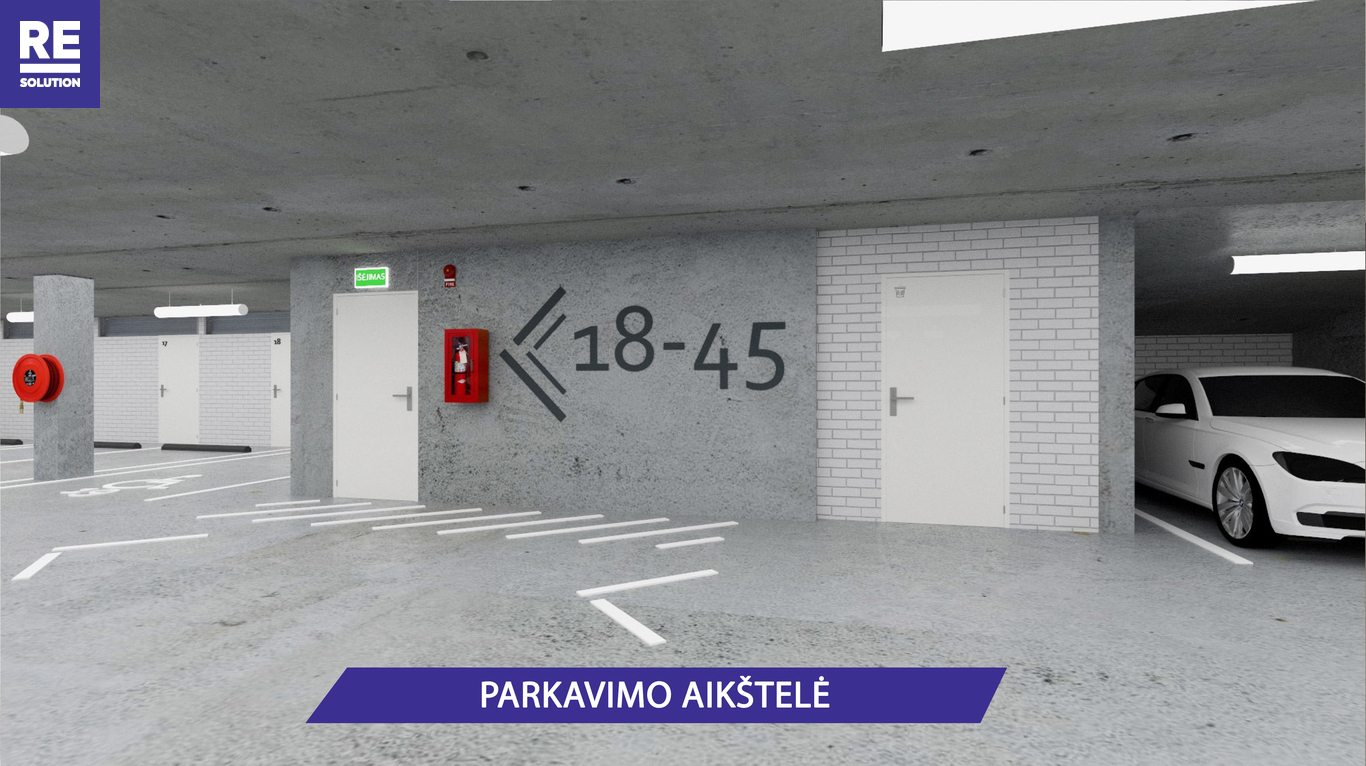 Parduodamas butas Olandų g., Užupis, Vilniaus m., Vilniaus m. sav., 35.2 m2 ploto, 2 kambariai nuotrauka nr. 9