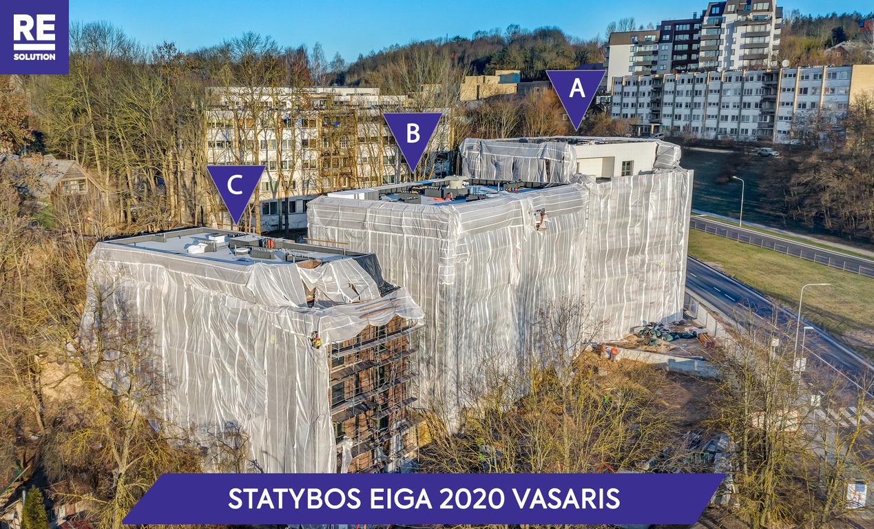 Parduodamas butas Olandų g., Užupis, Vilniaus m., Vilniaus m. sav., 53 m2 ploto, 3 kambariai