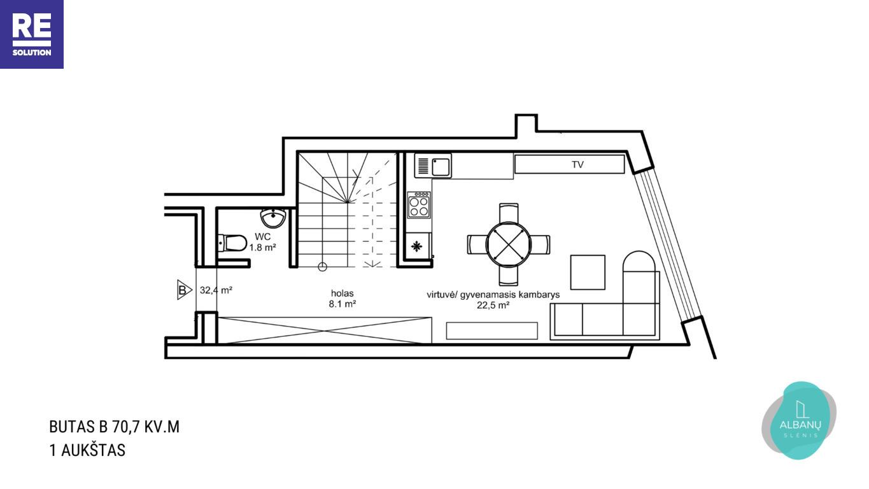 Parduodamas namas Albanų g., Kalnėnuose, Vilniuje, 70.7 m² ploto nuotrauka nr. 15
