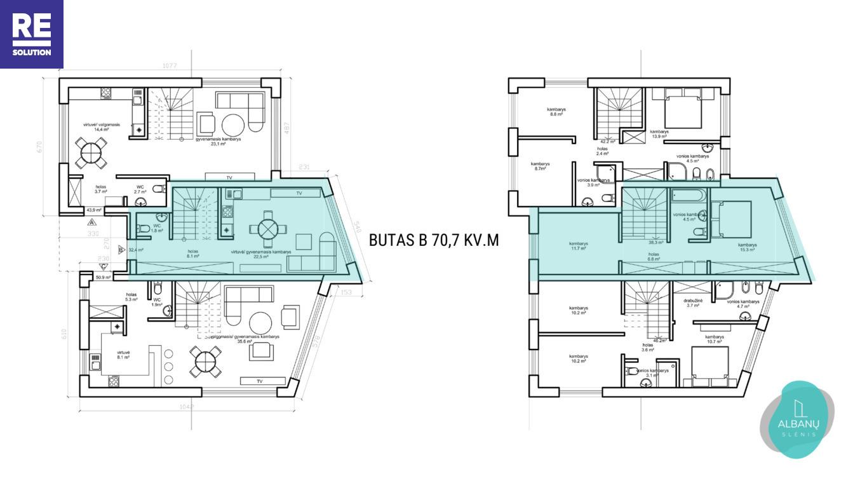 Parduodamas namas Albanų g., Kalnėnuose, Vilniuje, 70.7 m² ploto nuotrauka nr. 14