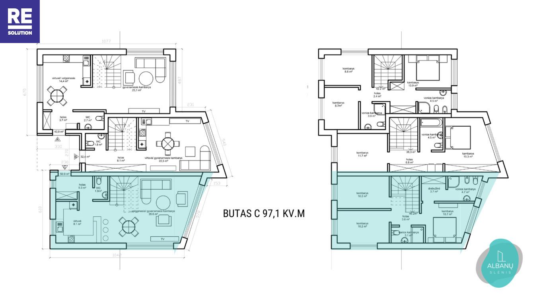 Parduodamas namas Albanų g., Kalnėnuose, Vilniuje, 97m² ploto nuotrauka nr. 14
