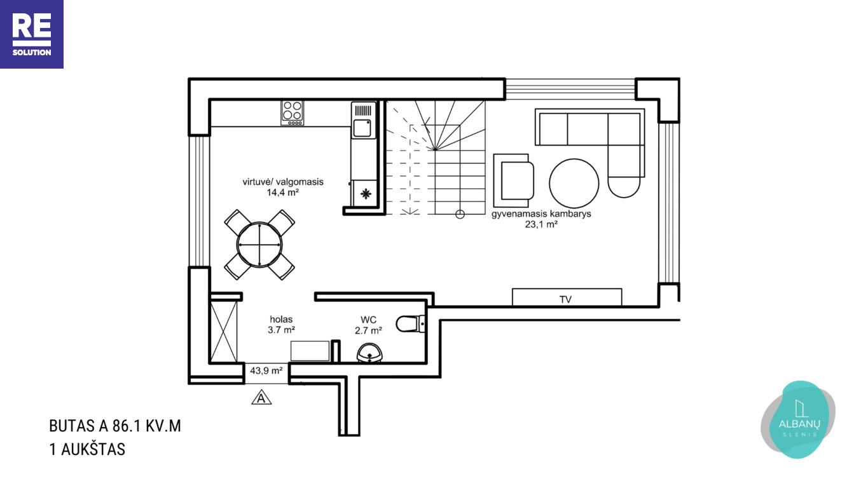 Parduodamas namas Albanų g., Kalnėnuose, Vilniuje, 86 m² ploto nuotrauka nr. 12