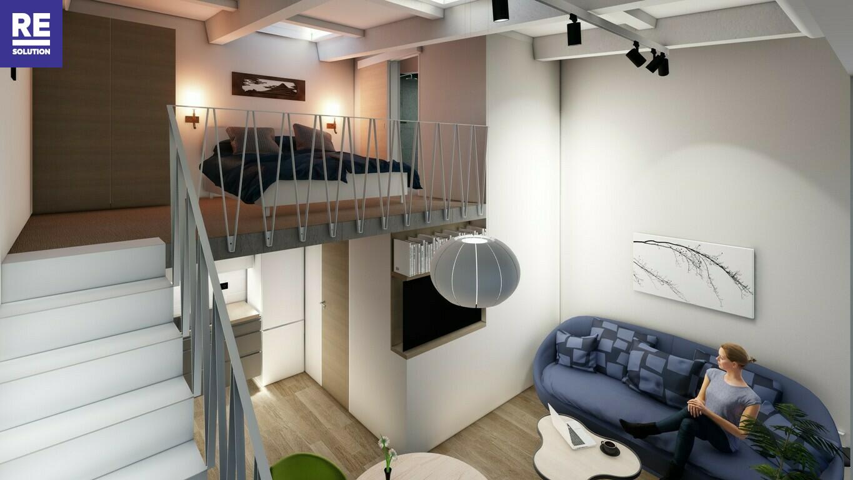 Parduodamas 38.51 kv.m. studijos tipo butas Užupio g., Vilniuje. nuotrauka nr. 3