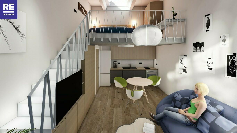 Parduodamas 35.18 kv.m. studijos tipo butas Užupio g., Vilniuje. nuotrauka nr. 2