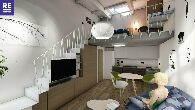 Parduodamas 35.18 kv.m. studijos tipo butas Užupio g., Vilniuje. nuotrauka nr. 3