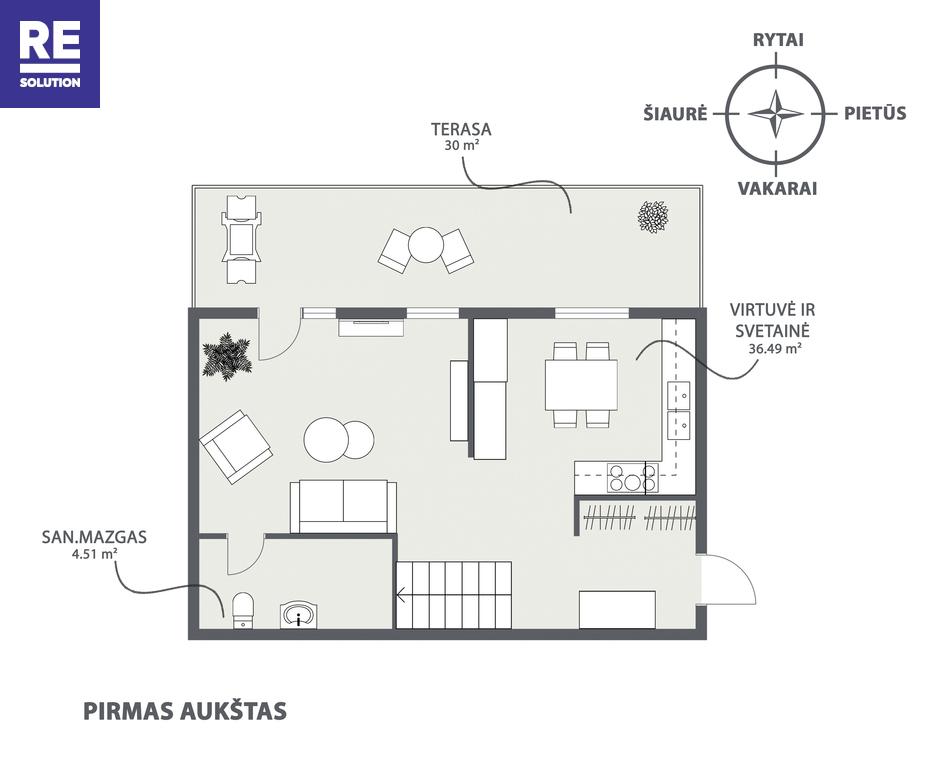 Parduodamas butas Žalgirio g., Šnipiškėse, Vilniuje, 92.06 kv.m ploto nuotrauka nr. 20