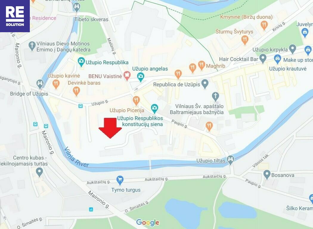 Parduodamas 38.51 kv.m. studijos tipo butas Užupio g., Vilniuje. nuotrauka nr. 14