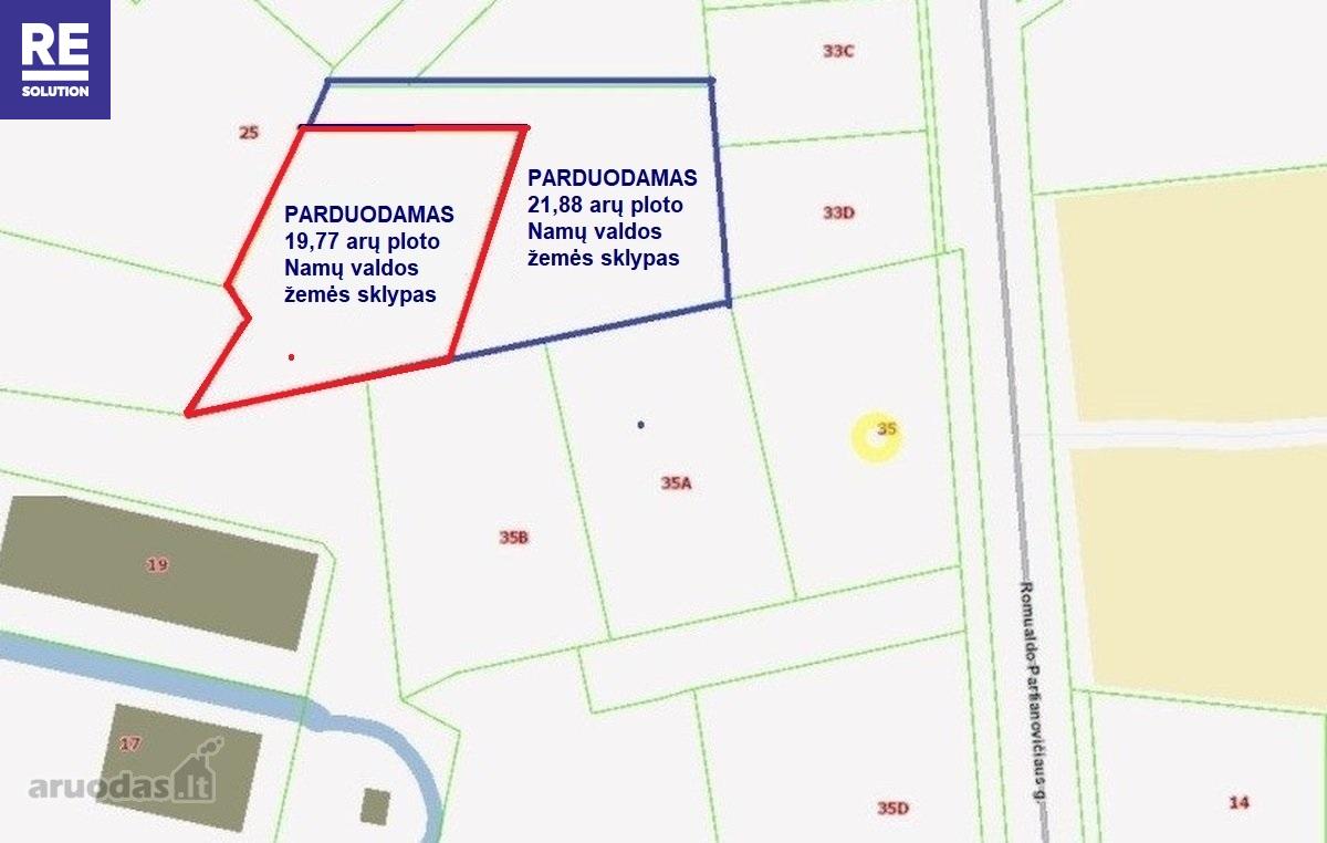 Parduodamas 19.77 arų ploto sklypas Parapijoniškėse, Vilniaus r. nuotrauka nr. 3