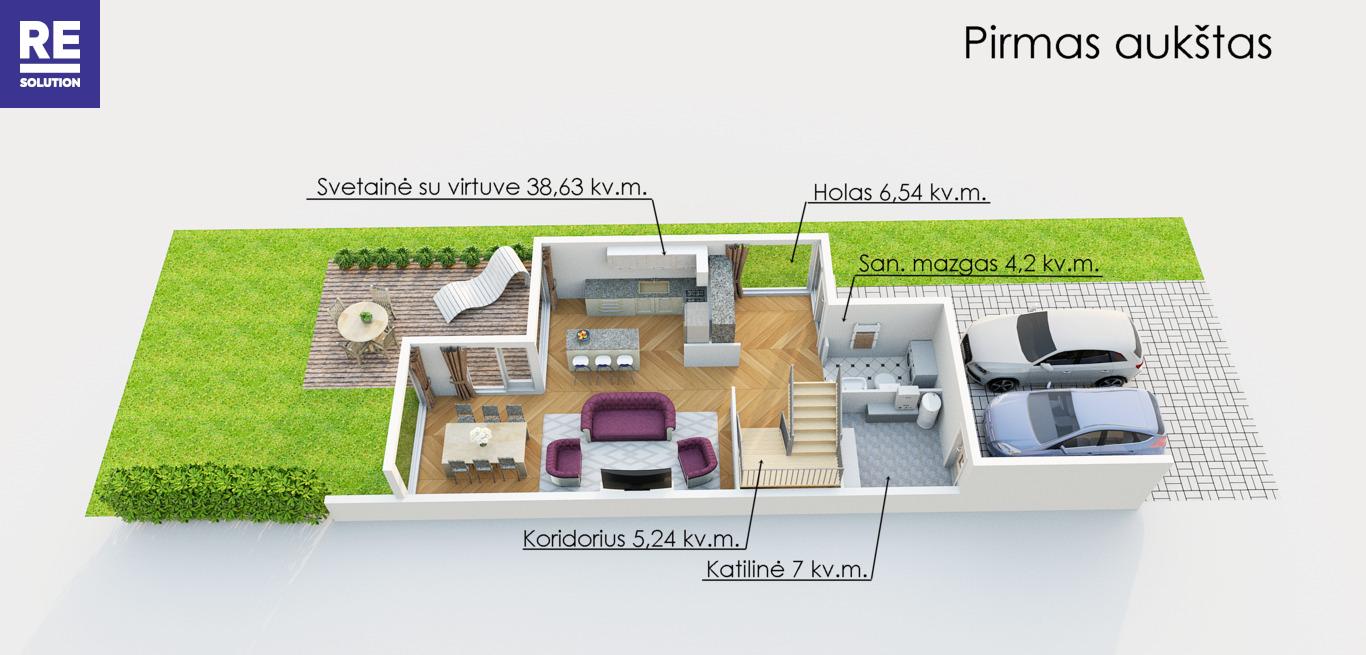 Parduodamas 123.51 kv.m. ploto sublokuotas namas Didžiuosiuose Gulbinuose. nuotrauka nr. 19