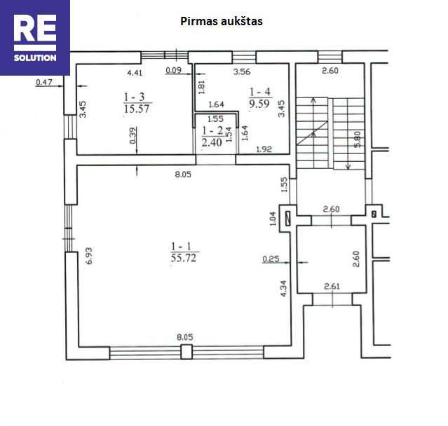 Parduodamas butas Krivių g., Užupyje, Vilniuje, 83 kv.m ploto nuotrauka nr. 2