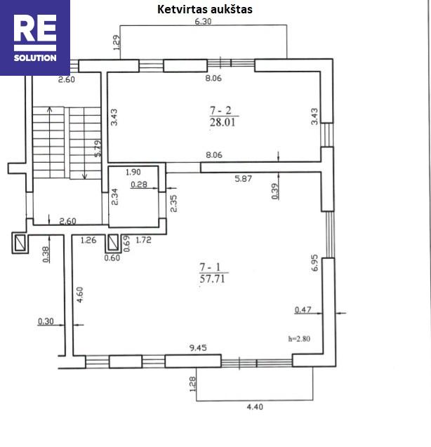 Parduodamas butas Krivių g., Užupyje, Vilniuje, 86 kv.m ploto nuotrauka nr. 12