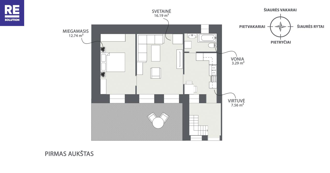 Parduodamas 4 kambarių butas tribučiame name Šeimyniškių g. nuotrauka nr. 18