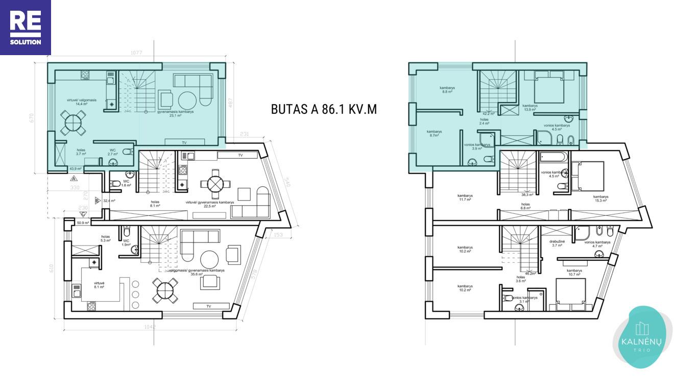 Parduodamas namas Albanų g., Kalnėnuose, Vilniuje, 86 m² ploto nuotrauka nr. 13